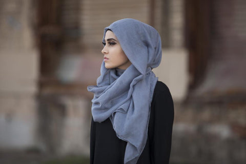 Viscose Hijab Dark Grey - Verona Collection
