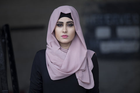 Georgette Hijab - Dusty Rose