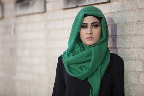 Viscose Hijab Emerald Green - Verona Collection