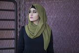 Chiffon Maxi Hijab - Olive - Verona Collection