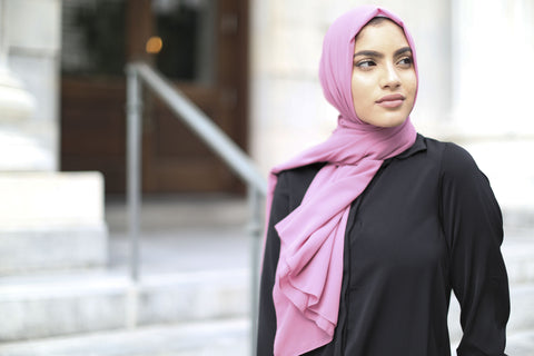 Chiffon Hijab - Pink Lilac - Verona Collection