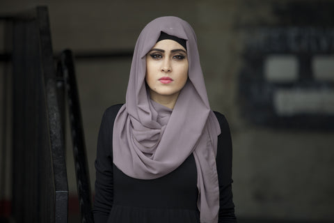 Chiffon Hijab - Latte - Verona Collection