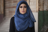Viscose Hijab with black satin trim - Sunflower Yellow