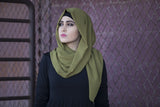 Chiffon Hijab - Olive - Verona Collection