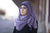 Viscose Hijab with black satin trim - Lavender