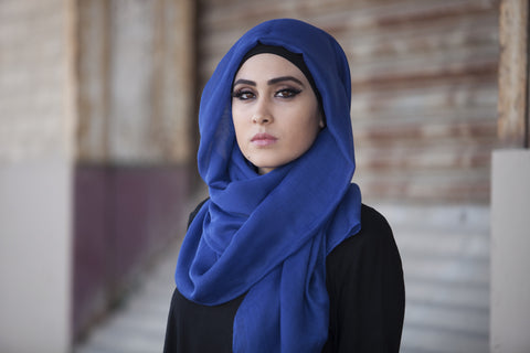 Viscose Hijab Royal Blue - Verona Collection