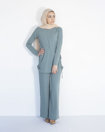 Ari Modest Co-ord set - Sage - Verona Collection