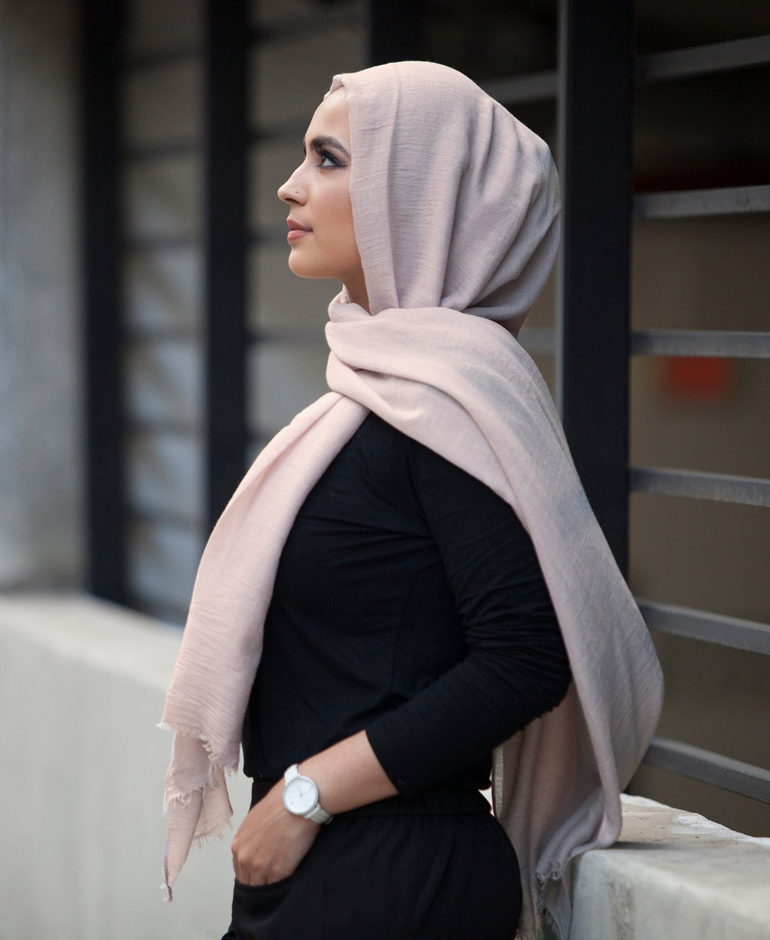 Hand Dyed Viscose Hijab - Dusty Pink