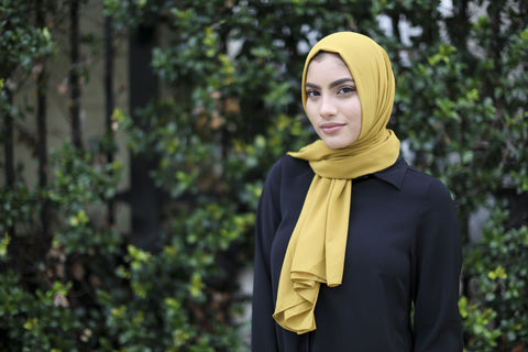 Chiffon Hijab - Mustard - Verona Collection