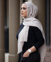 Hand Dyed Viscose Hijab - Dusty Cream - Verona Collection