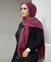 Hand Dyed Viscose Hijab - Burgundy - Verona Collection