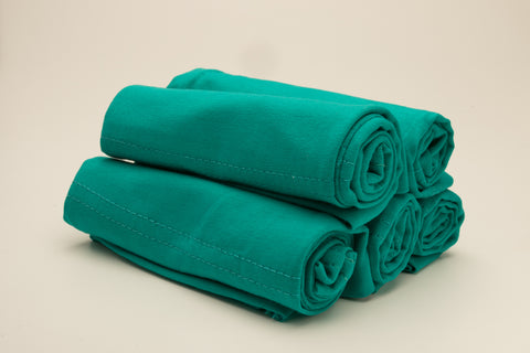Luxury Cotton Tube Cap - Teal