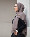 Hand Dyed Viscose Hijab - Latte - Verona Collection