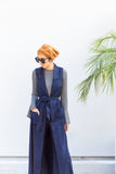 Valeria Sleeveless Cardigan - Navy