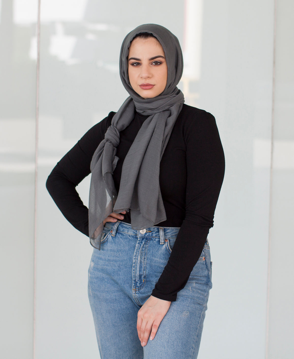 Viscose Hijab - Dusty Grey