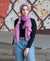 Viscose Hijab with black satin trim - Purple Lilac