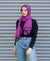 Viscose Hijab with black satin trim - Magenta
