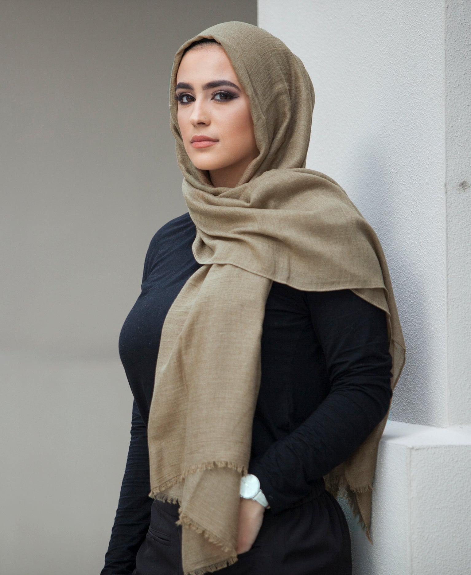 Hand Dyed Viscose Hijab - Olive