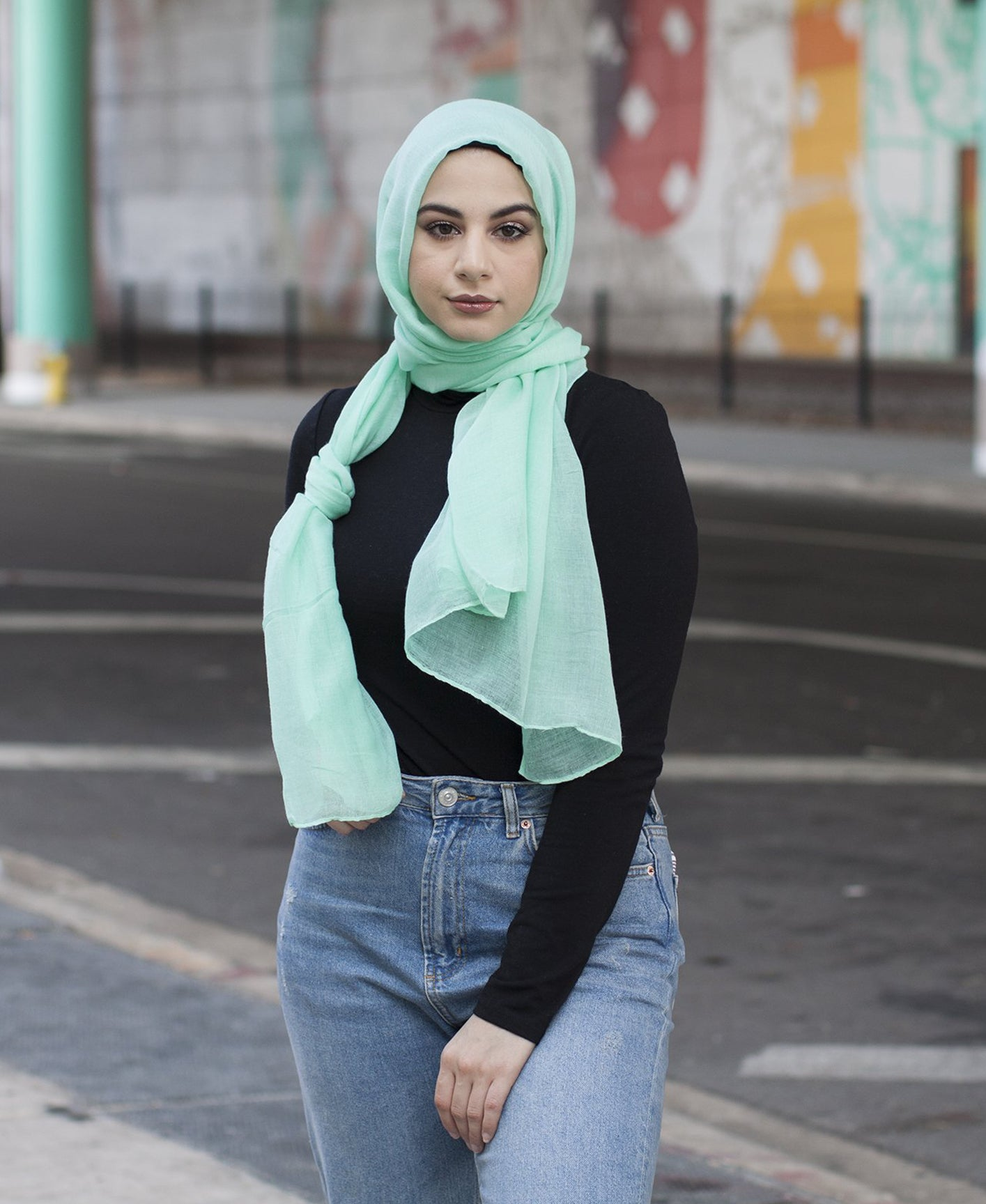Viscose Hijab - Mint Tea