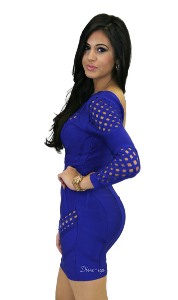 Royal Blue Bandage Dress 2