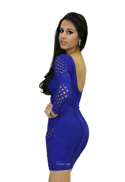 Royal Blue Bandage Dress 3