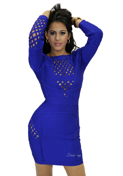 Royal Blue Bandage Dress 1