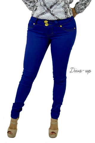 Blue Royal Brazilian Push-up  Jeans.