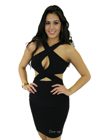 Black Halter Top BodyCon Dress