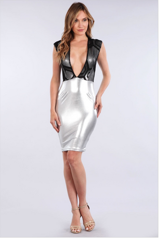 Black and Silver Bodycon
