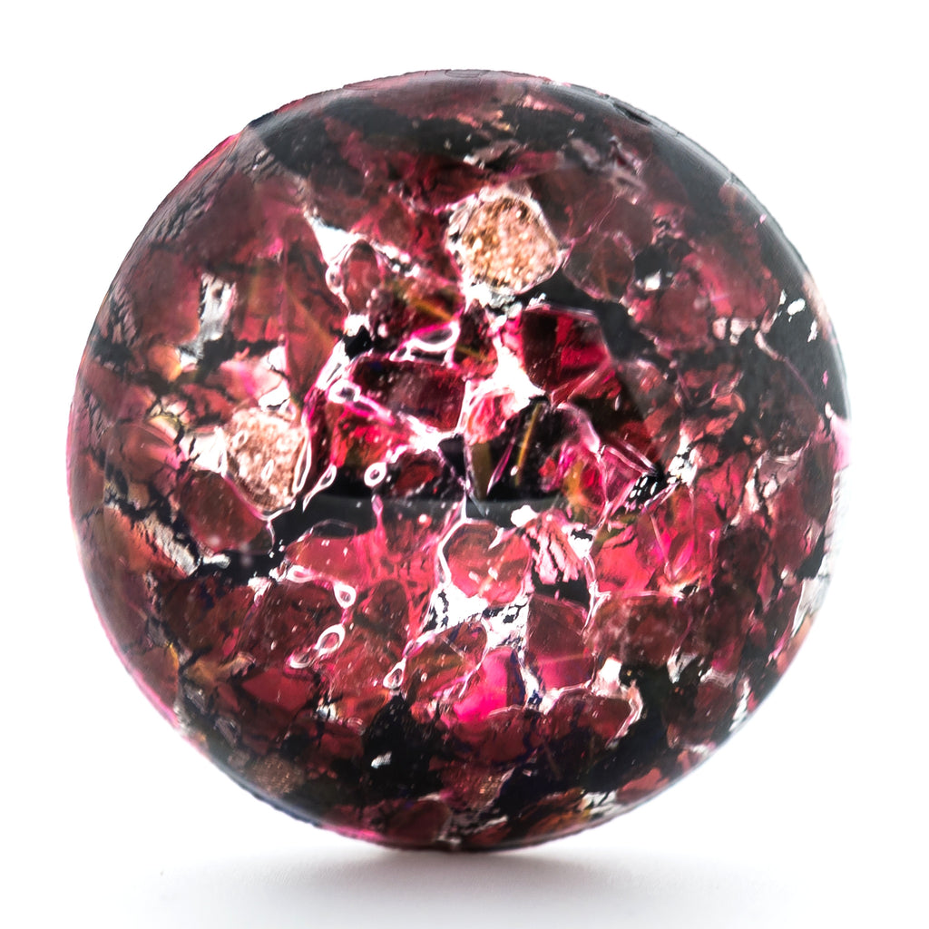 18MM Ruby Foiled Cabechon (2 pieces)