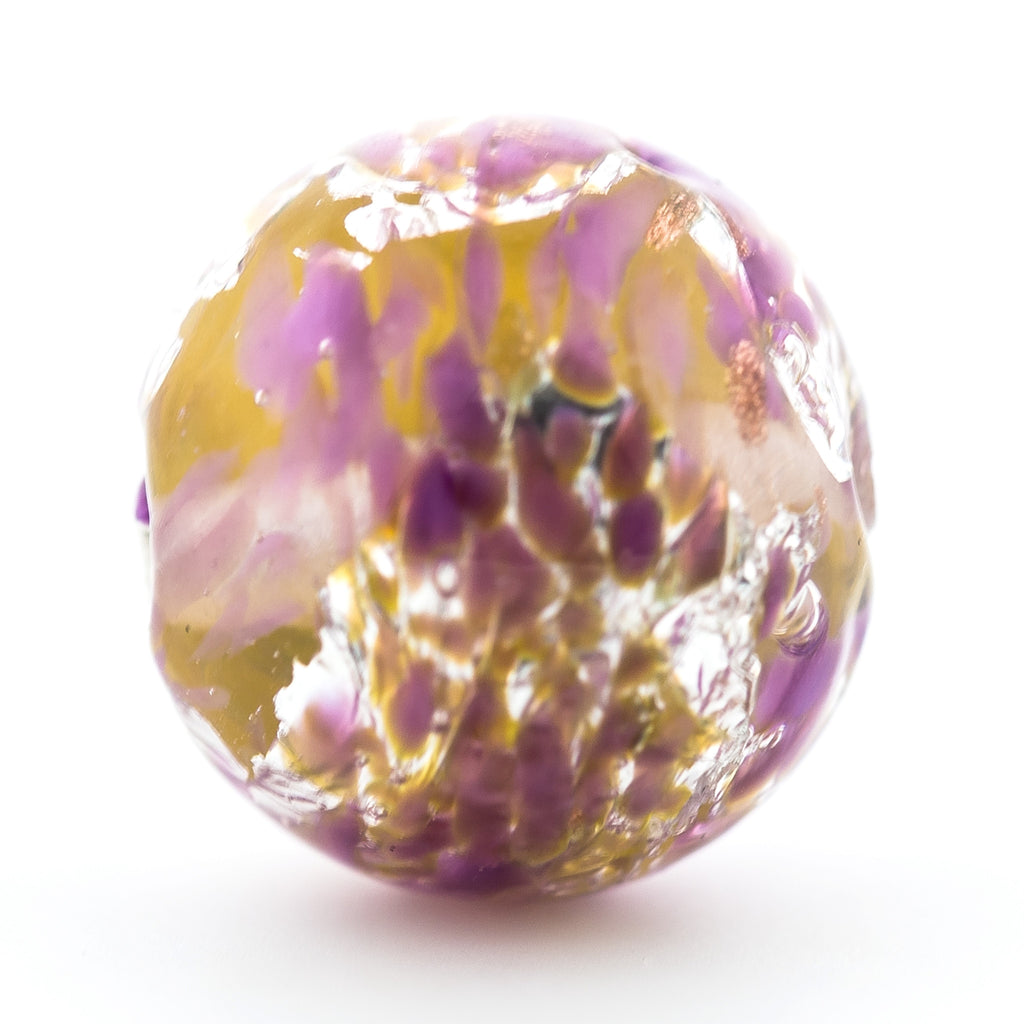 14MM Amethyst Foiled Bead (3 pieces)