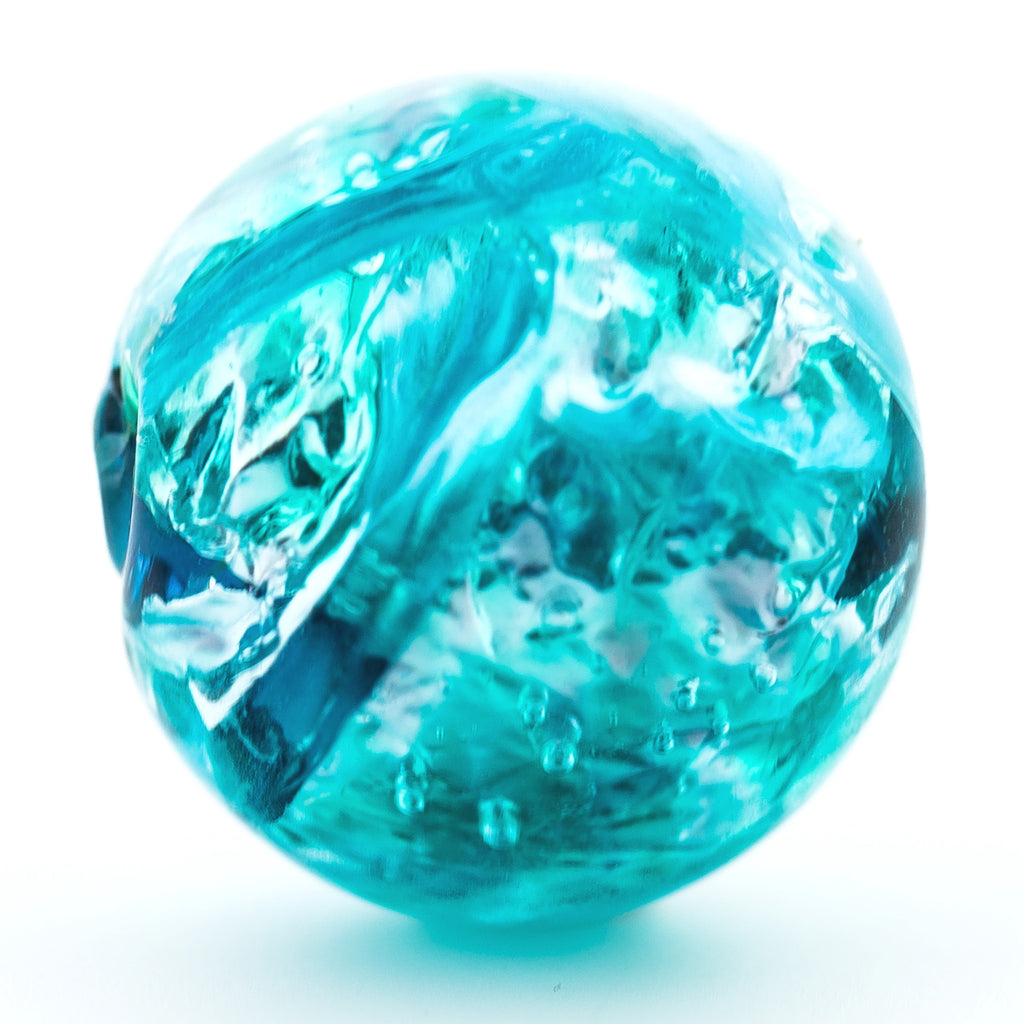 10MM Aqua Foiled Bead (6 pieces)