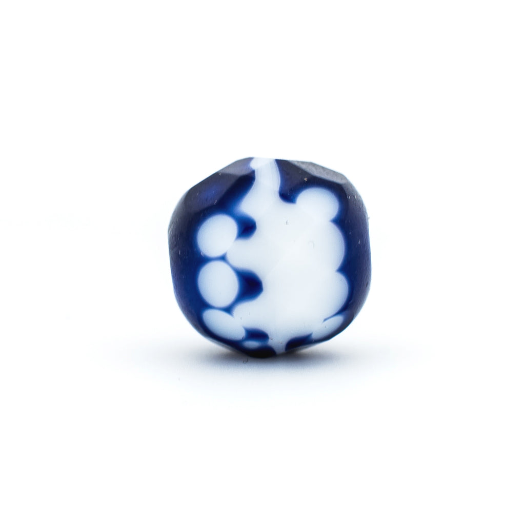 10MM Navy Glass Firepolish Bead (72 pieces)