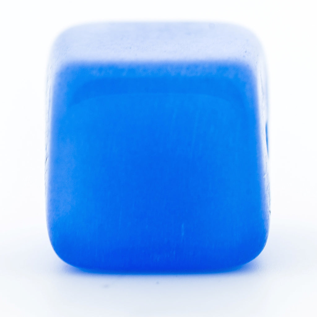 12MM Blue Quartz Glass Cube Bead (36 pieces)