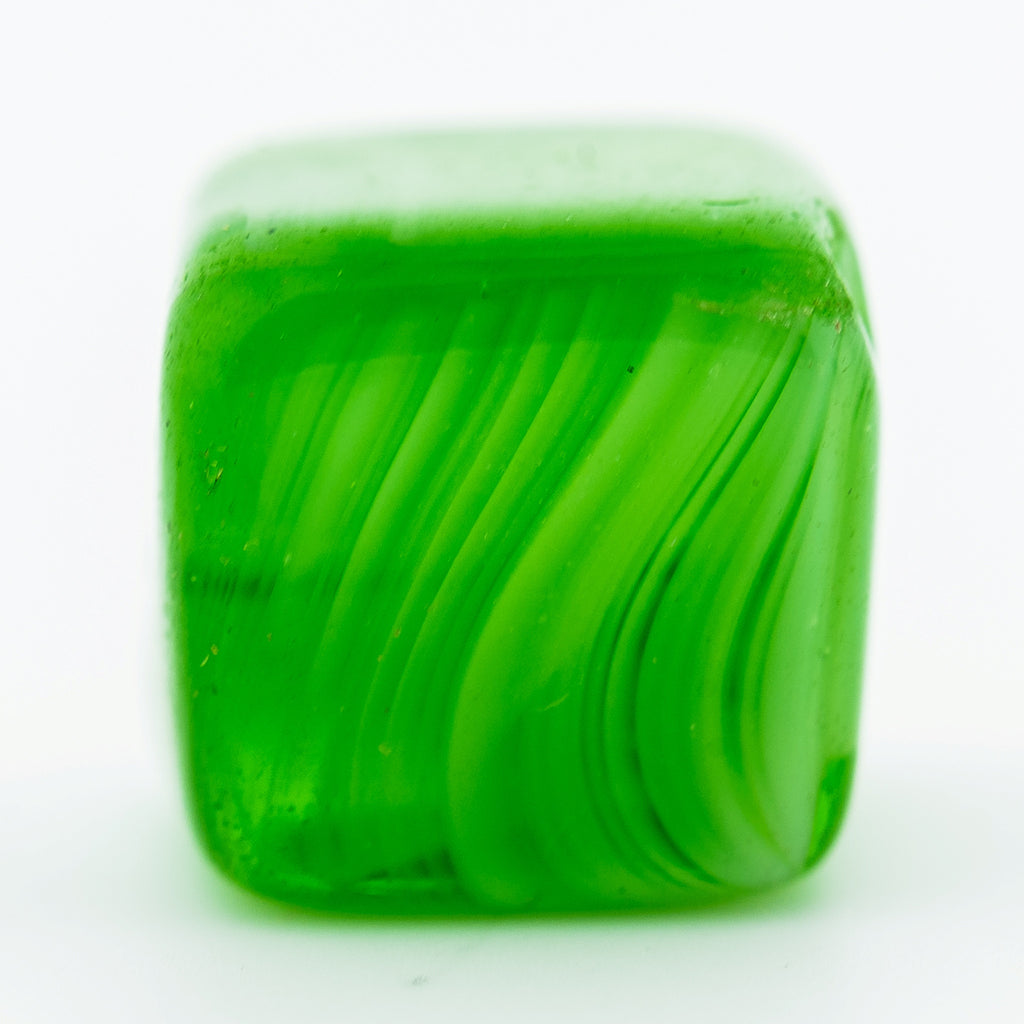 12MM Green Quartz Glass Cube Bead (36 pieces)