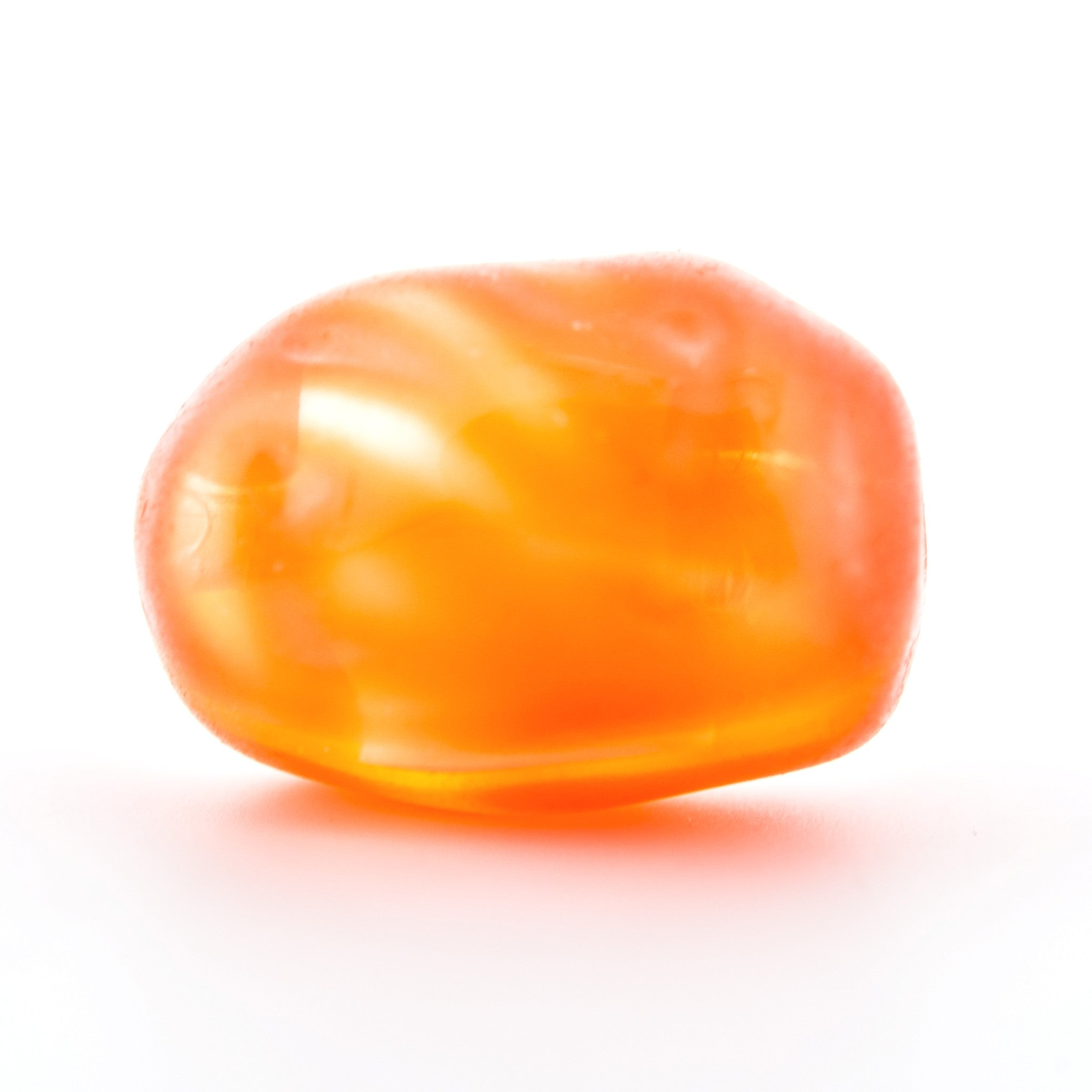 18MM Orange Glass Oval Bead (24 pieces)