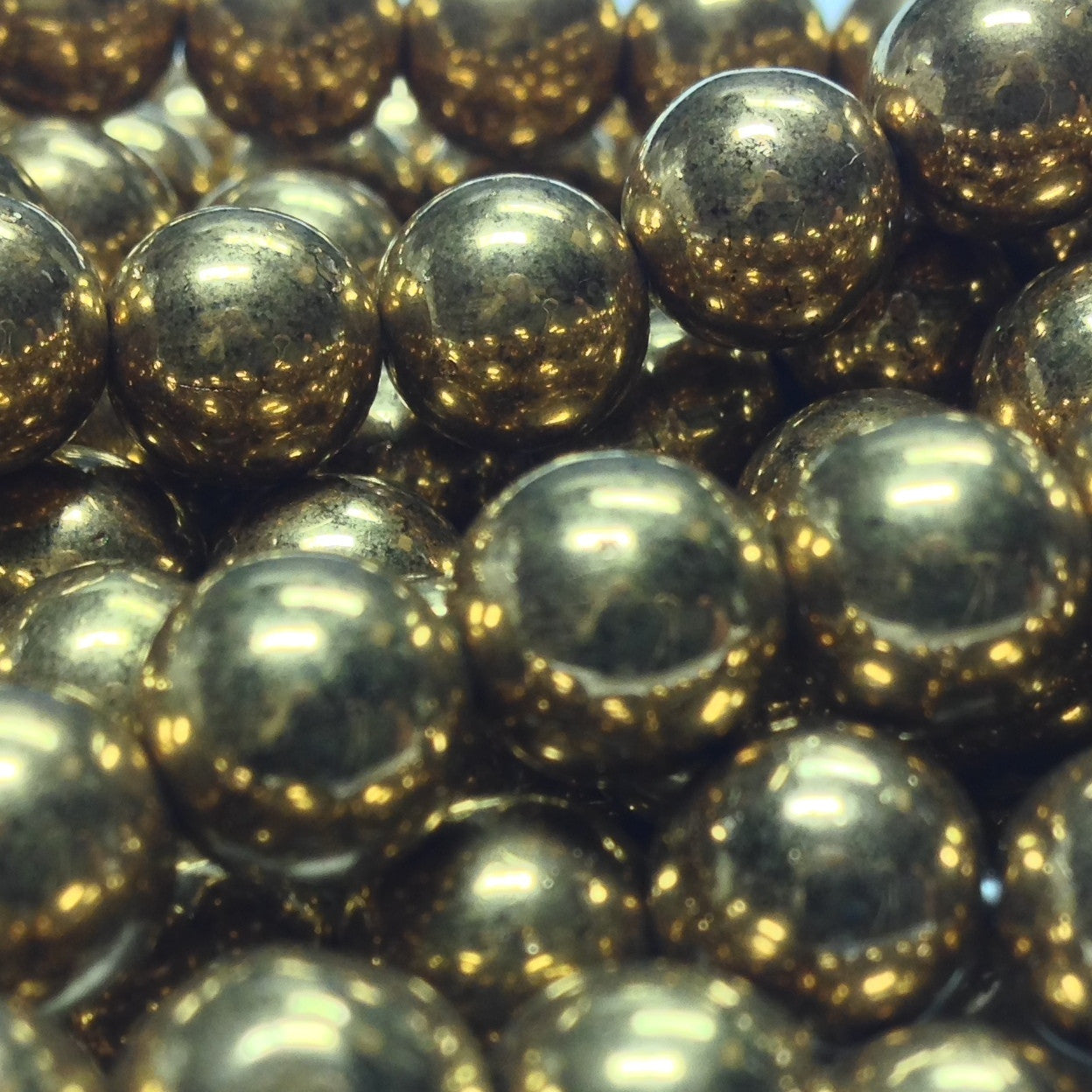 8MM Bronze Glass Round Beads (100 pieces)