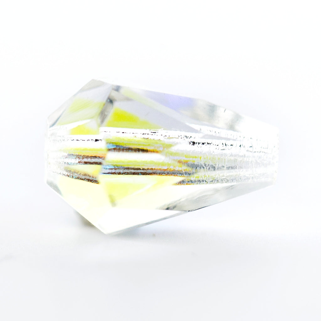 10X7MM Crystal Ab Pear Glass Beads (100 pieces)
