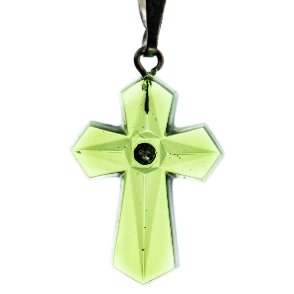 20X14MM Olivine Cross Pendant (6 pieces)