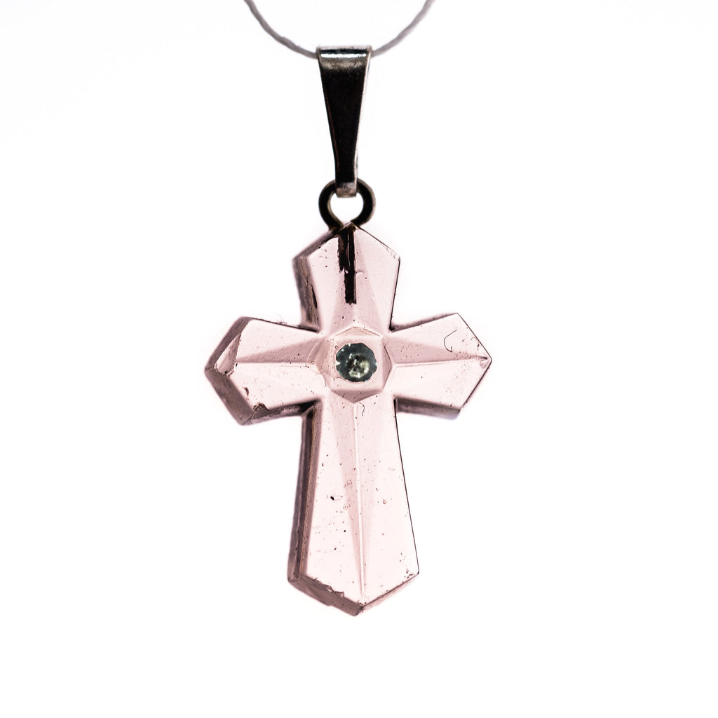 20X14MM Rose Cross Pendant (6 pieces)