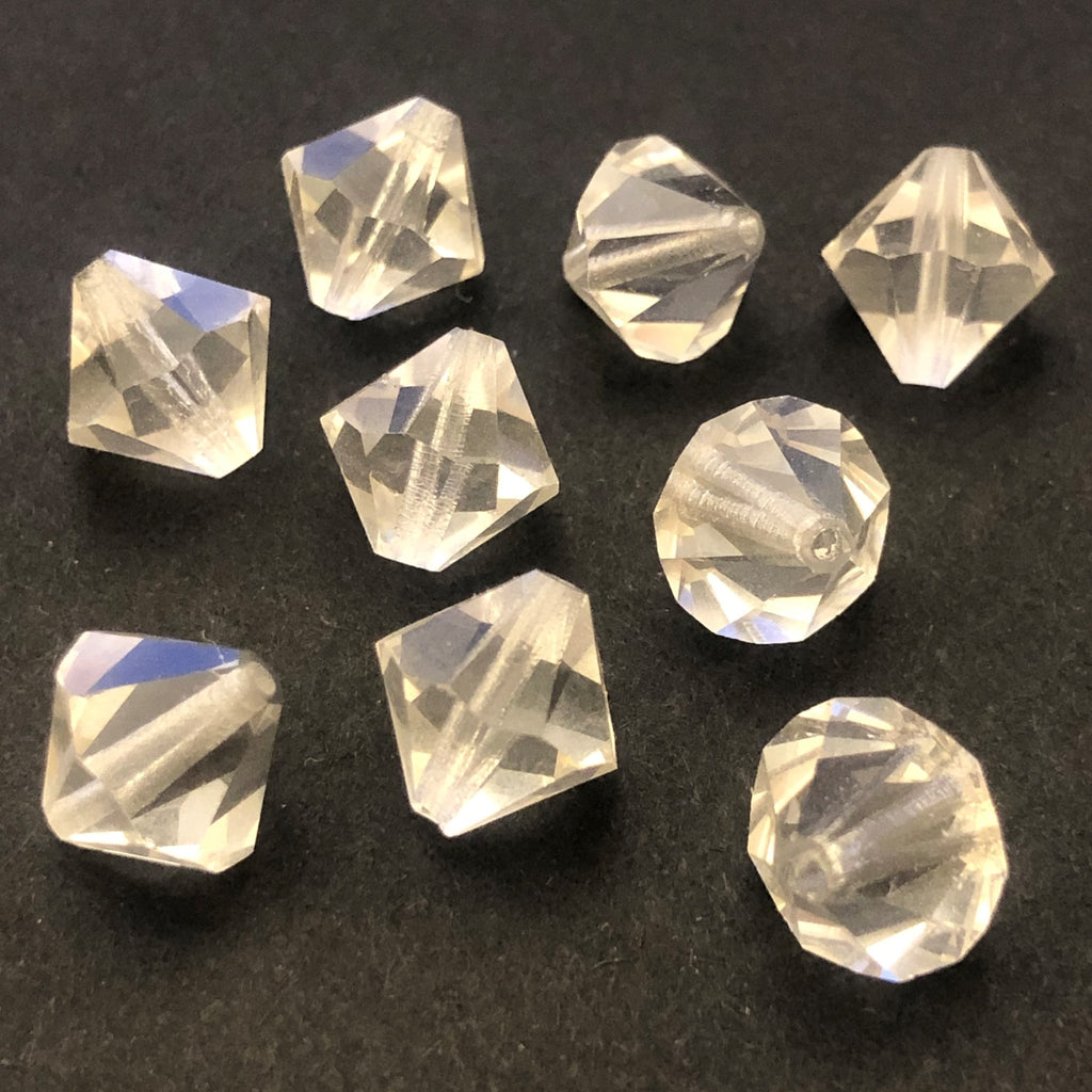 10MM Crystal Bicone Tin Cut Crystal Faceted Beads (48 pieces)