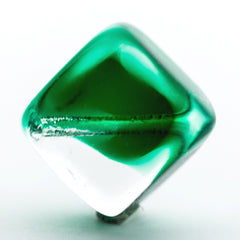 12MM Emerald Green/Crystal Glass Bead (36 pieces)