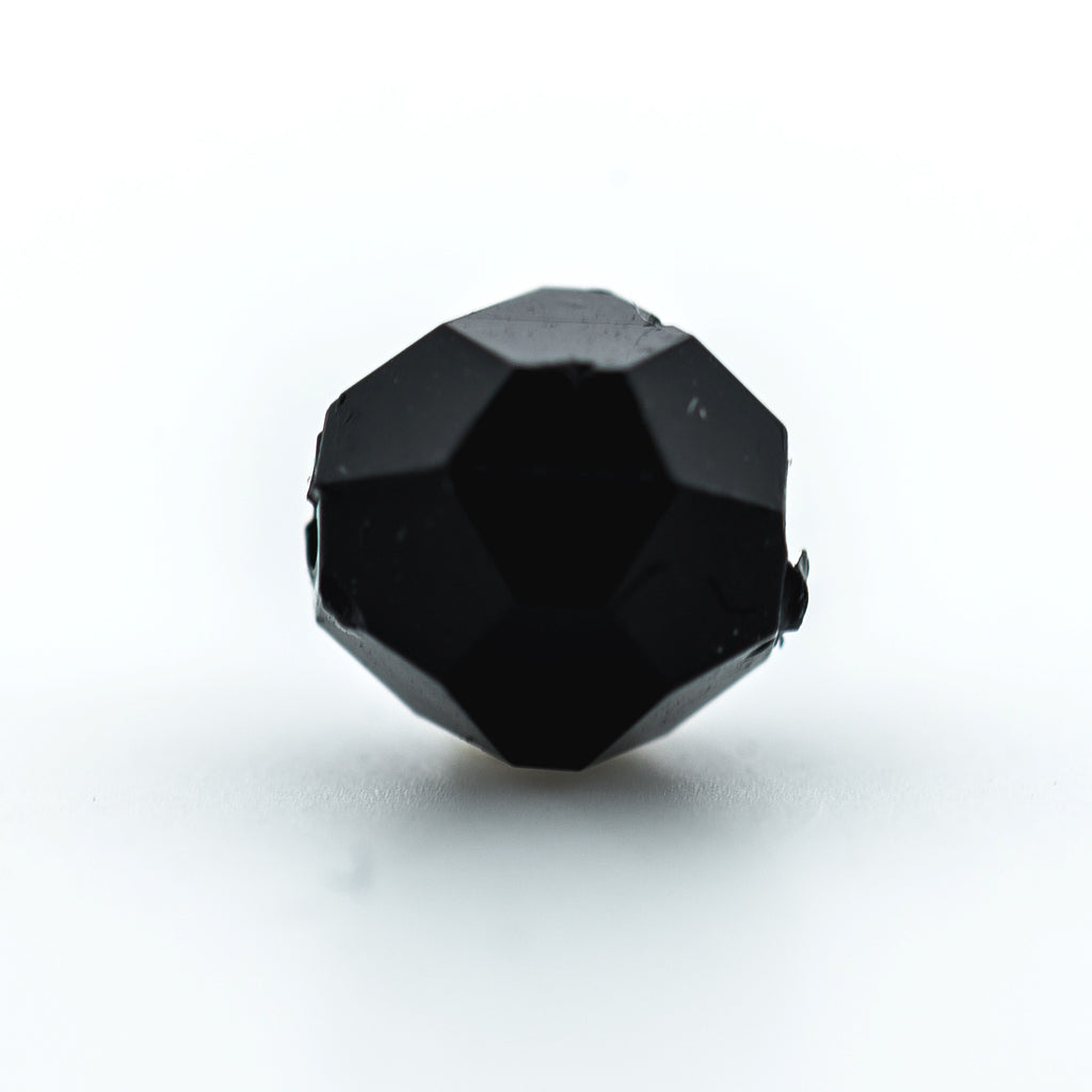 4MM Black Faceted Round Pl. Bead (500 pieces)