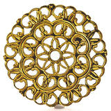 26MM Gold Filigree Disc (12 pieces)