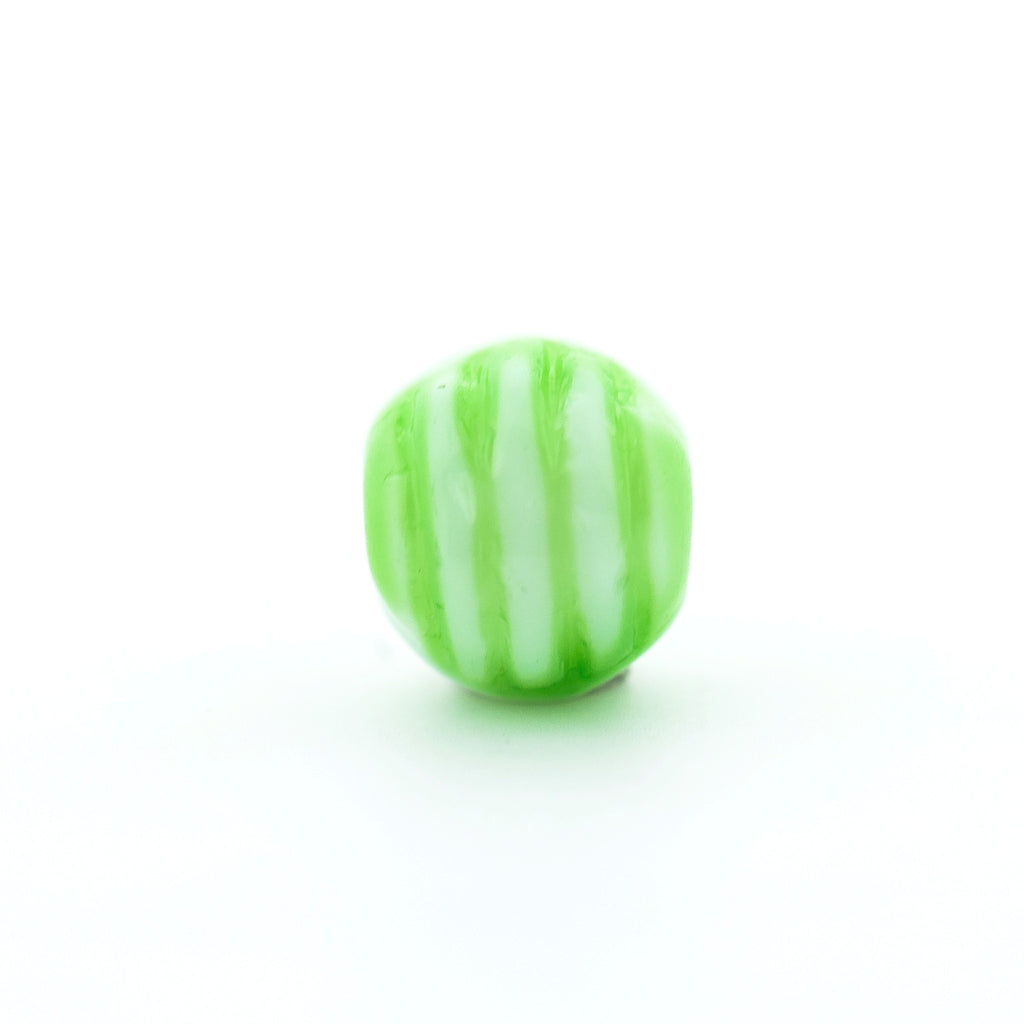6MM Green Ribbed Glass Bead (144 pieces)