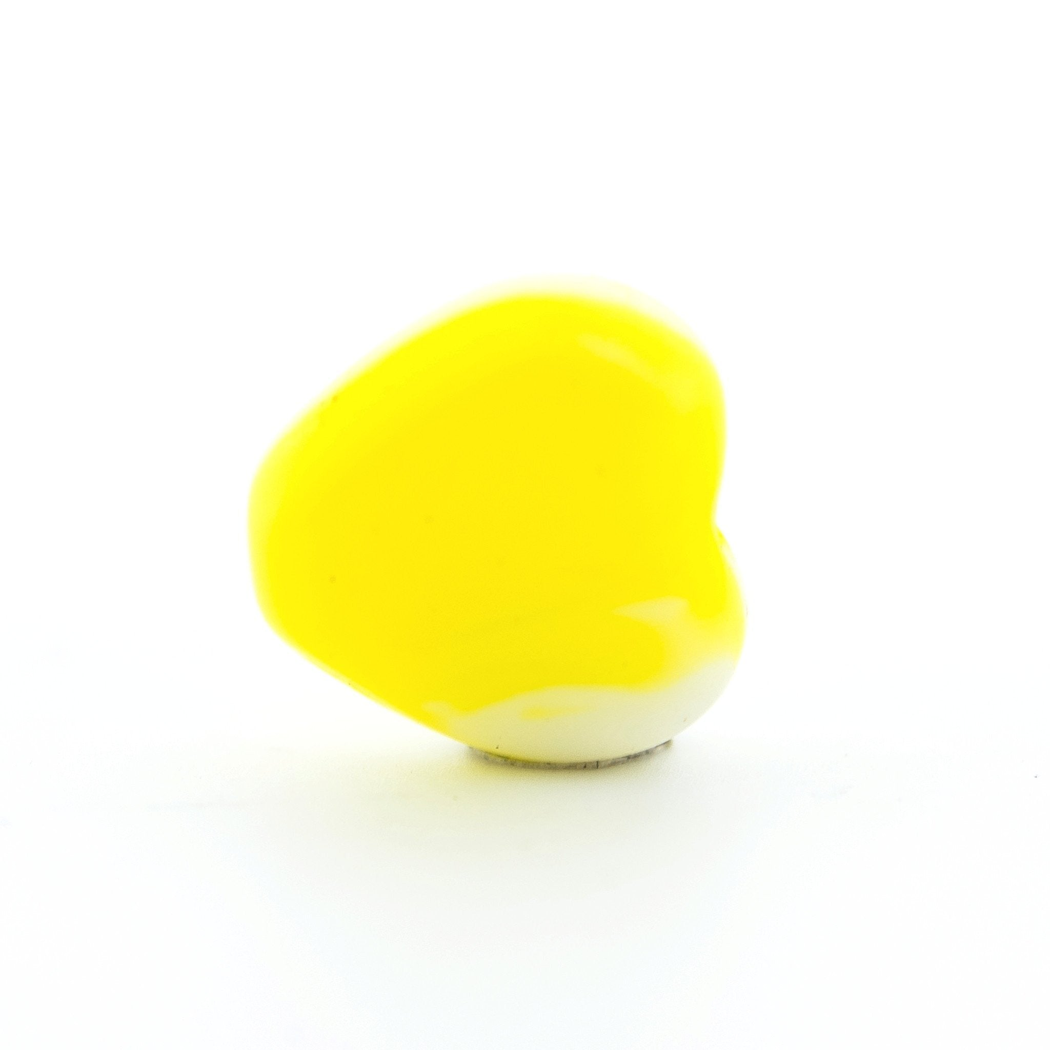 8MM Yellow Small Glass Heart Bead (72 pieces)