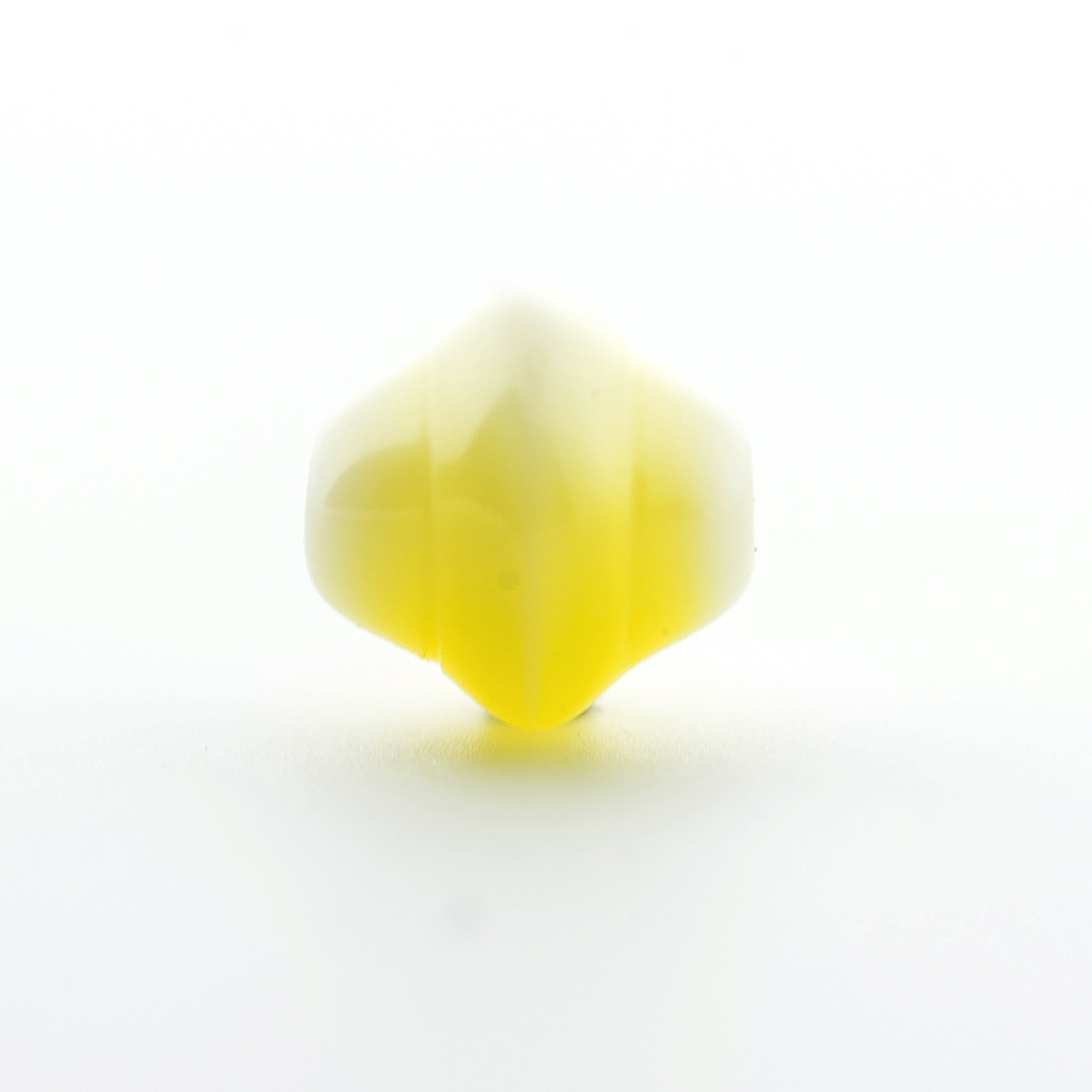 6MM Yellow Glass Pyramid Bead (144 pieces)