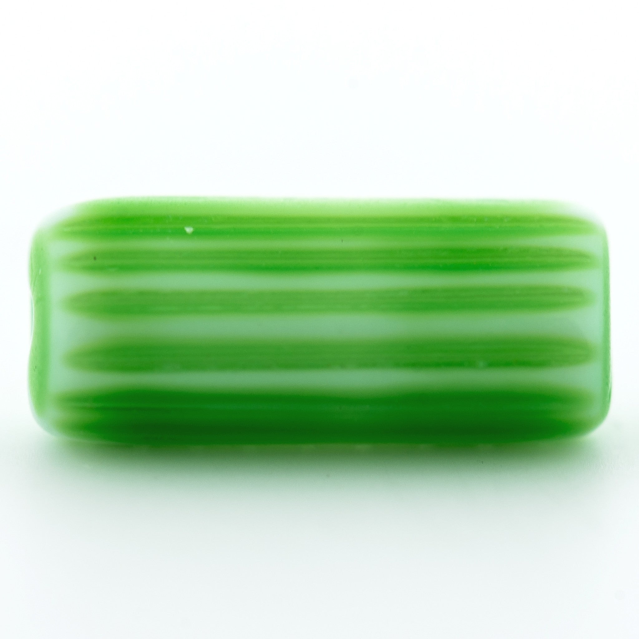 15X6MM Green Glass Tube Bead (36 pieces)