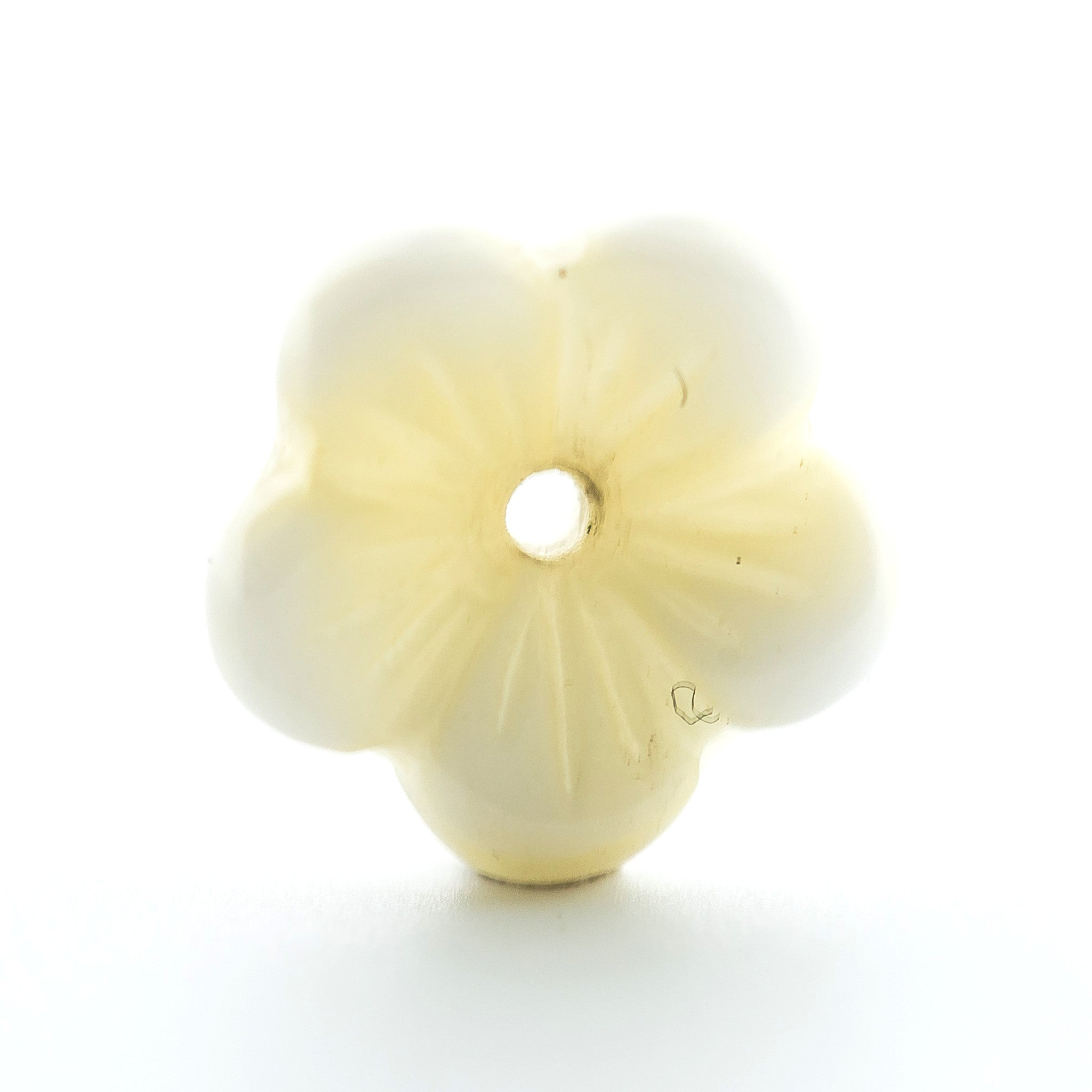 9MM White Glass Flower Bead Cap (144 pieces)