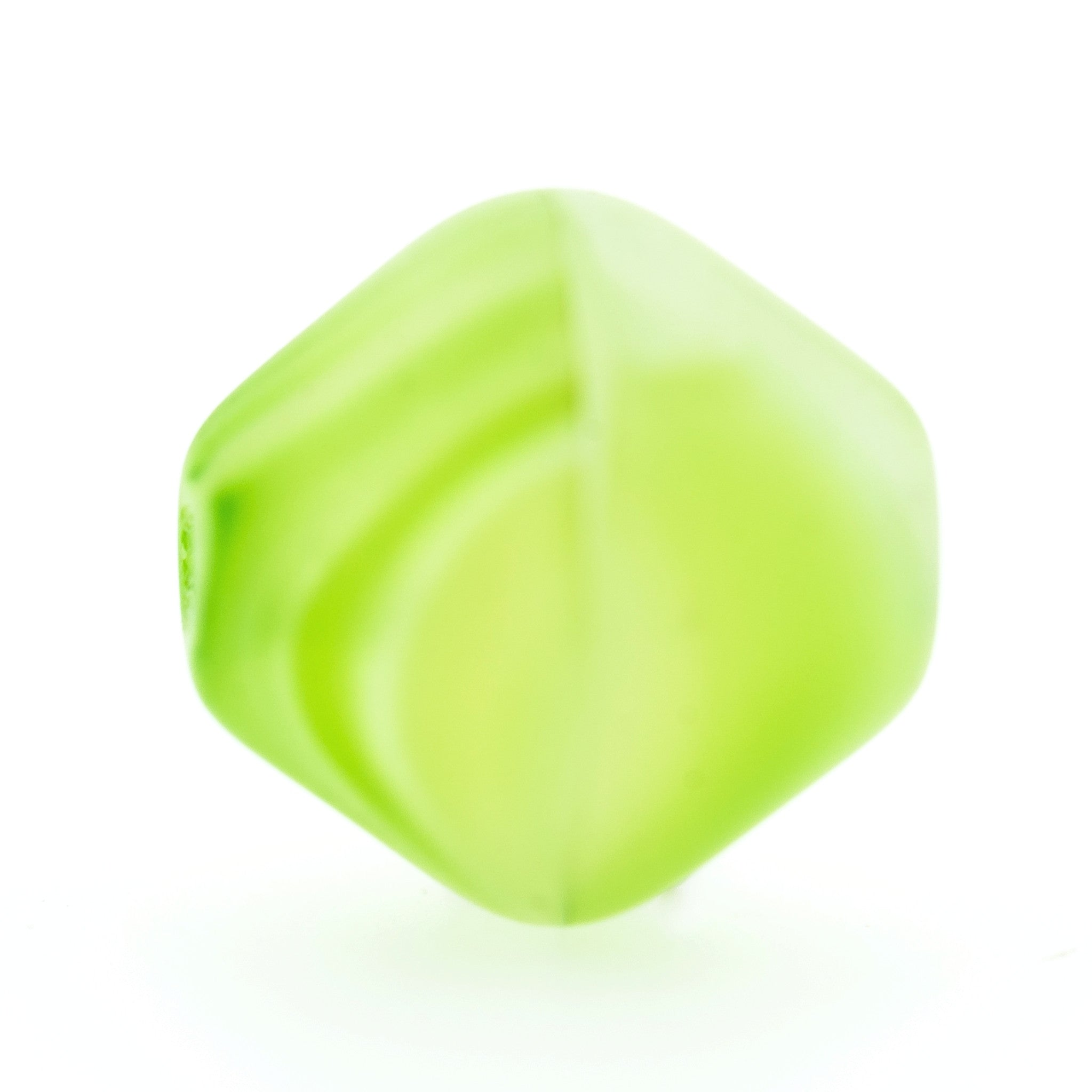9MM Green Glass Pyramid Bead (36 pieces)